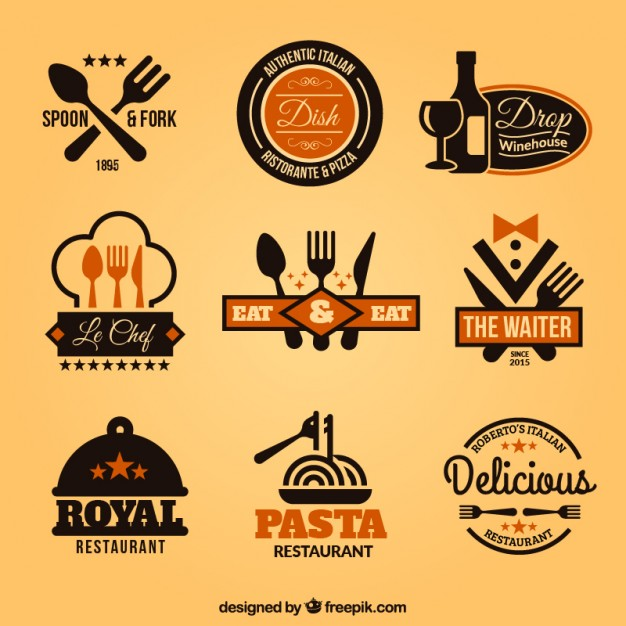 626x626 Collection Of Restaurant Badges Vector Free Download