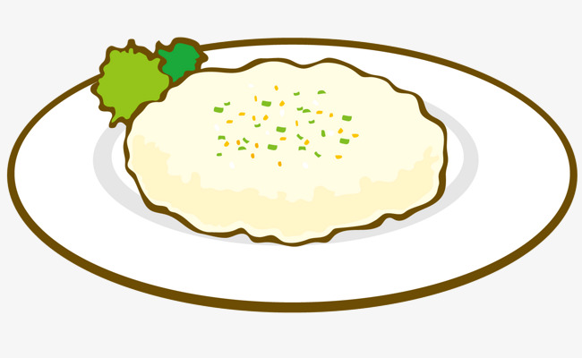 650x400 Rice On The Plate, Plate Vector, Vector Diagram, Food Png And
