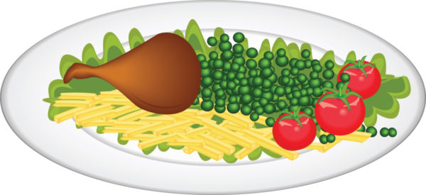600x275 Plate Of Food Clip Art Vector Image Of Plate Of Food Stock Photo