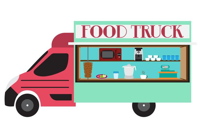 700x490 Food Truck Template Vector Free