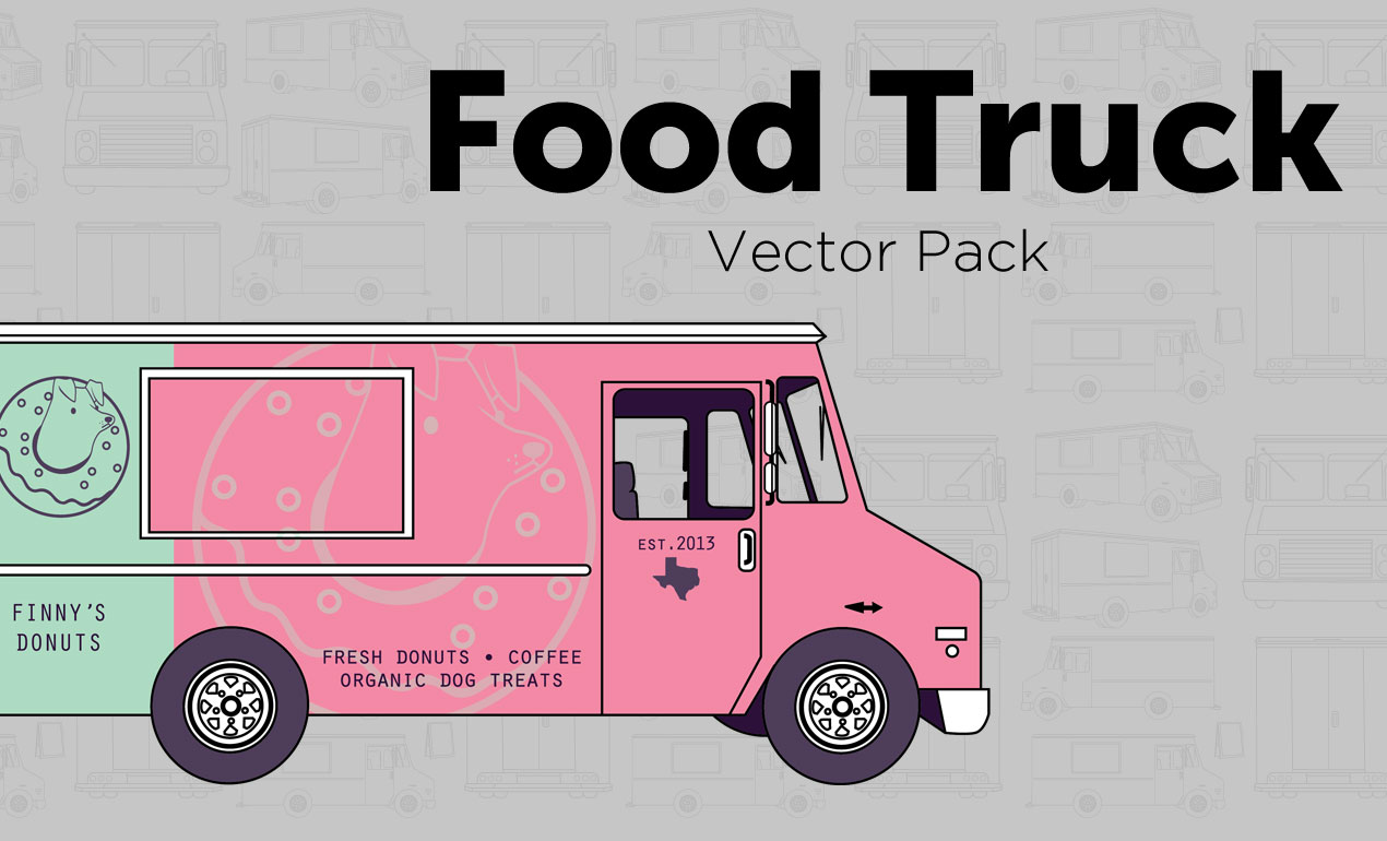 1270x770 Food Truck Vector Pack