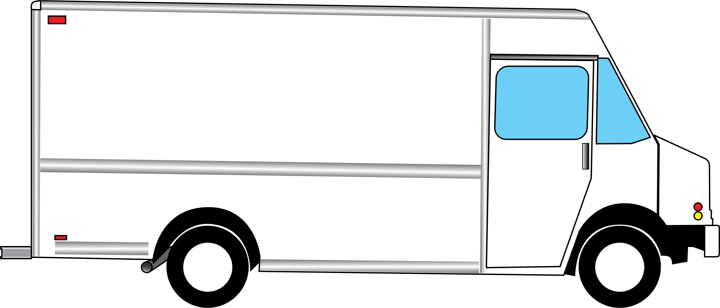 2400x1028 Collection Of Blank Food Truck Drawing High Quality, Free