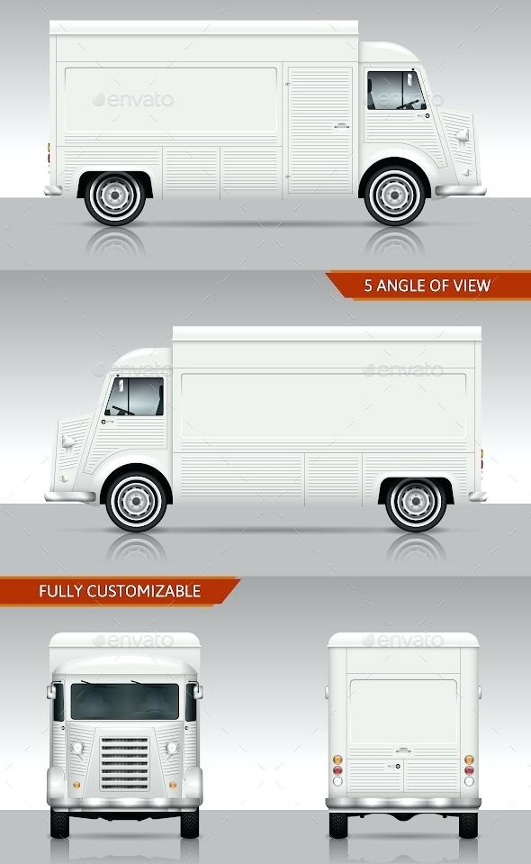 590x959 Retro Food Truck Template In Vector Format Vehicle Templates Free