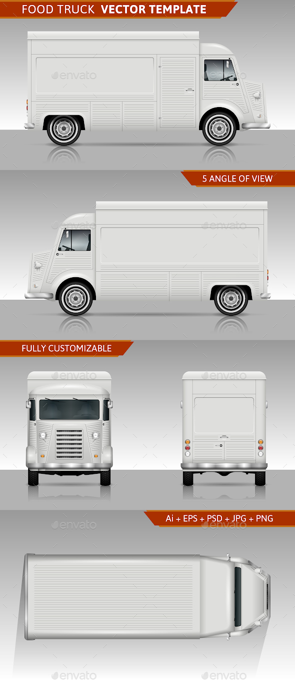 590x1359 Retro Food Truck Vector Template By Yurischmidt Graphicriver