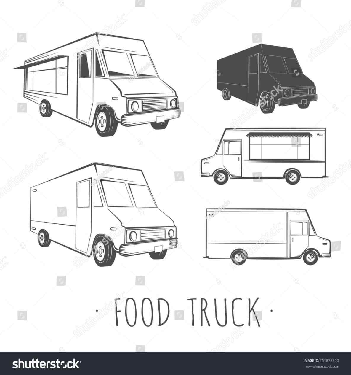 1185x1264 The Images Collection Of Images Food Truck Template Vector For