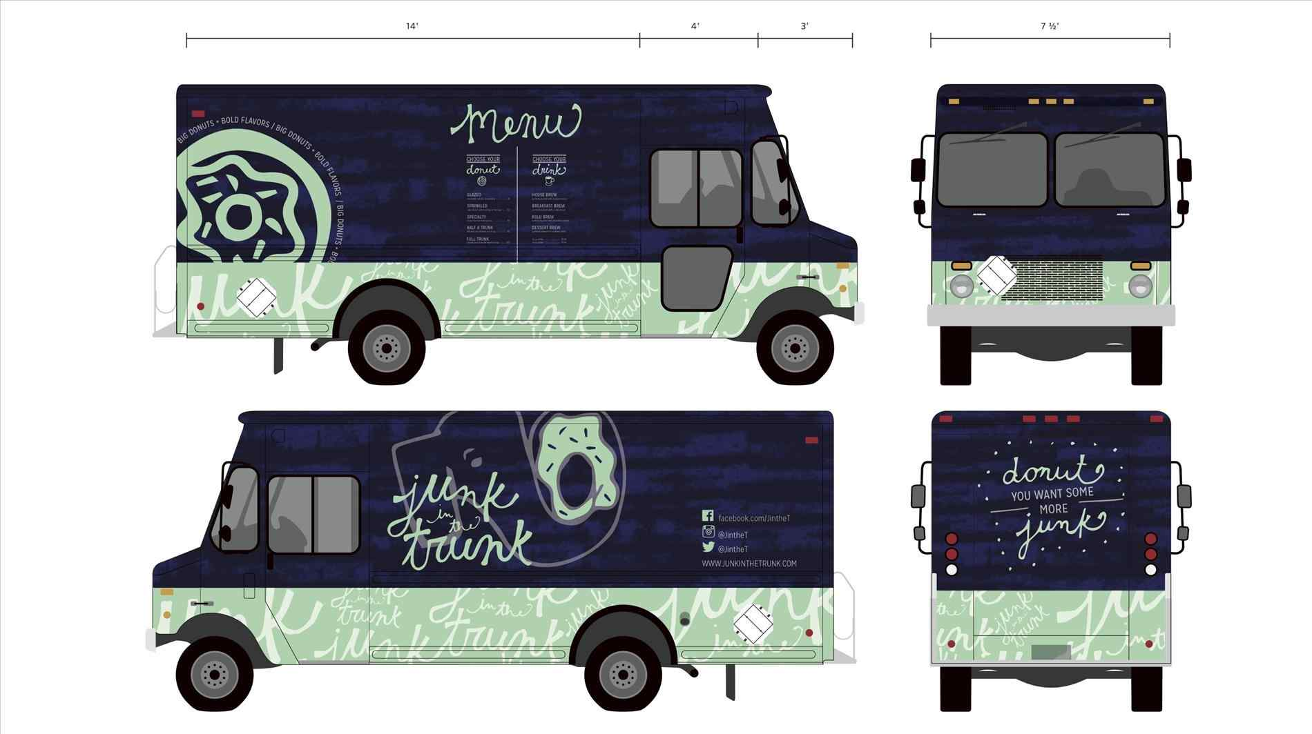 1900x1064 The Images Collection Of Stock Realistic Food Truck Template