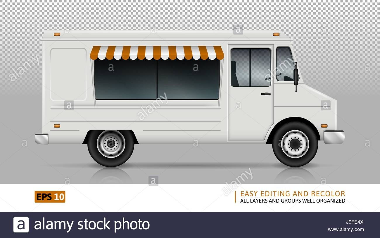 1300x813 Truck Template Truck Template Food Truck Vector Template For Car