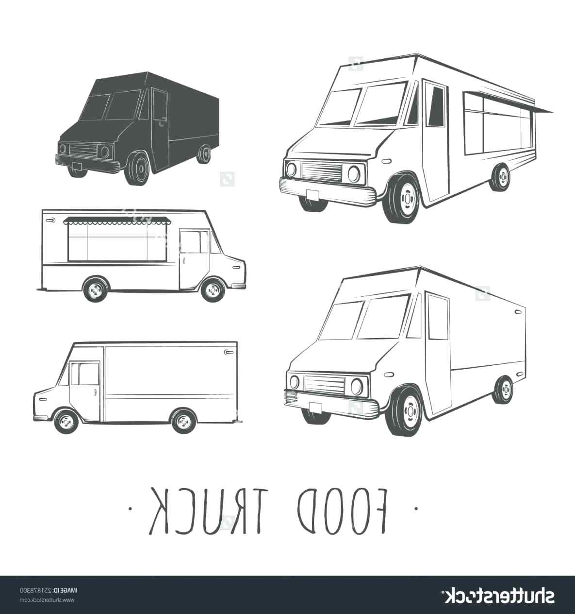 1185x1264 Template Food Truck Template Retro Vector Pencil And In Color