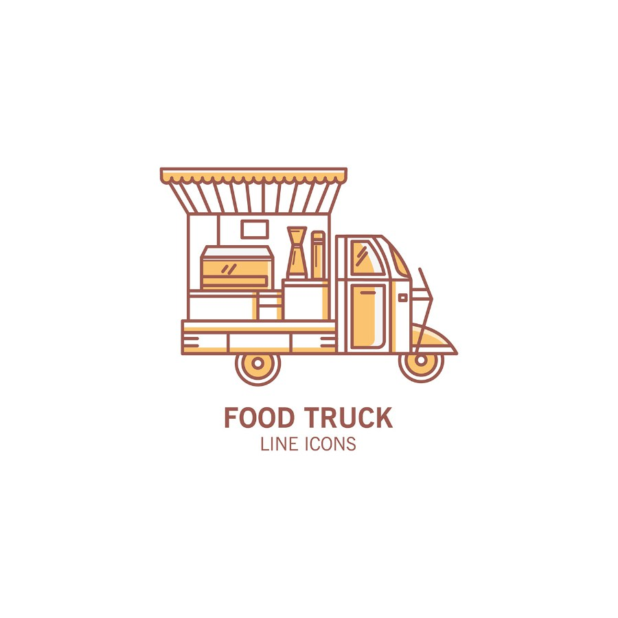 900x900 Food Truck Vector Icon Pack Free Design Resources
