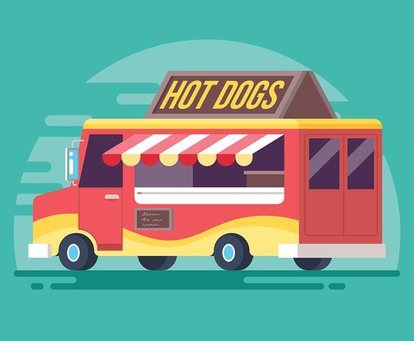 595x490 Food Truck Vector Illustration