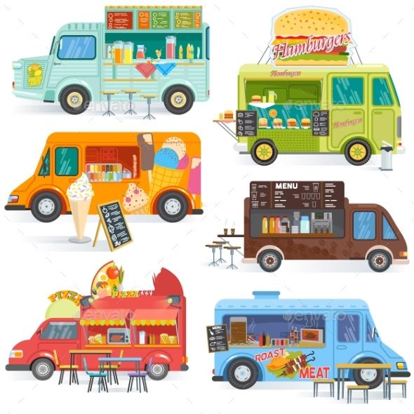 590x590 Food Truck Vector Street Food Truck Vehicles By Elevartun