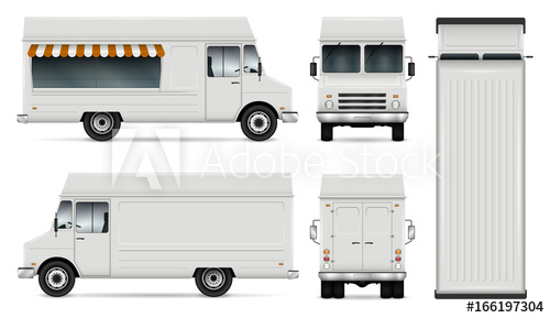 500x289 Food Truck Vector Template For Car Branding And Advertising