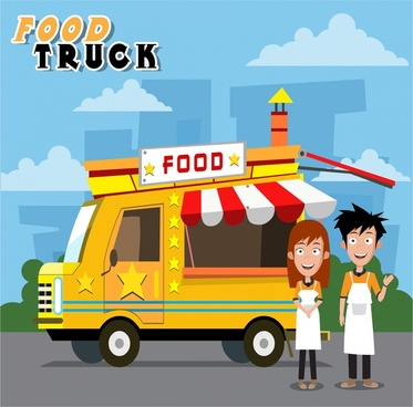 373x368 Food Truck Free Vector Download (6,057 Free Vector) For Commercial