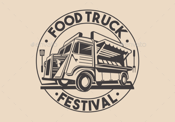 590x413 Restaurant Delivery Service Food Truck Vector Logo By Aurielaki