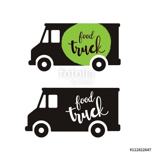 500x500 Food Truck Logo,food Logo Stock Image And Royalty Free Vector
