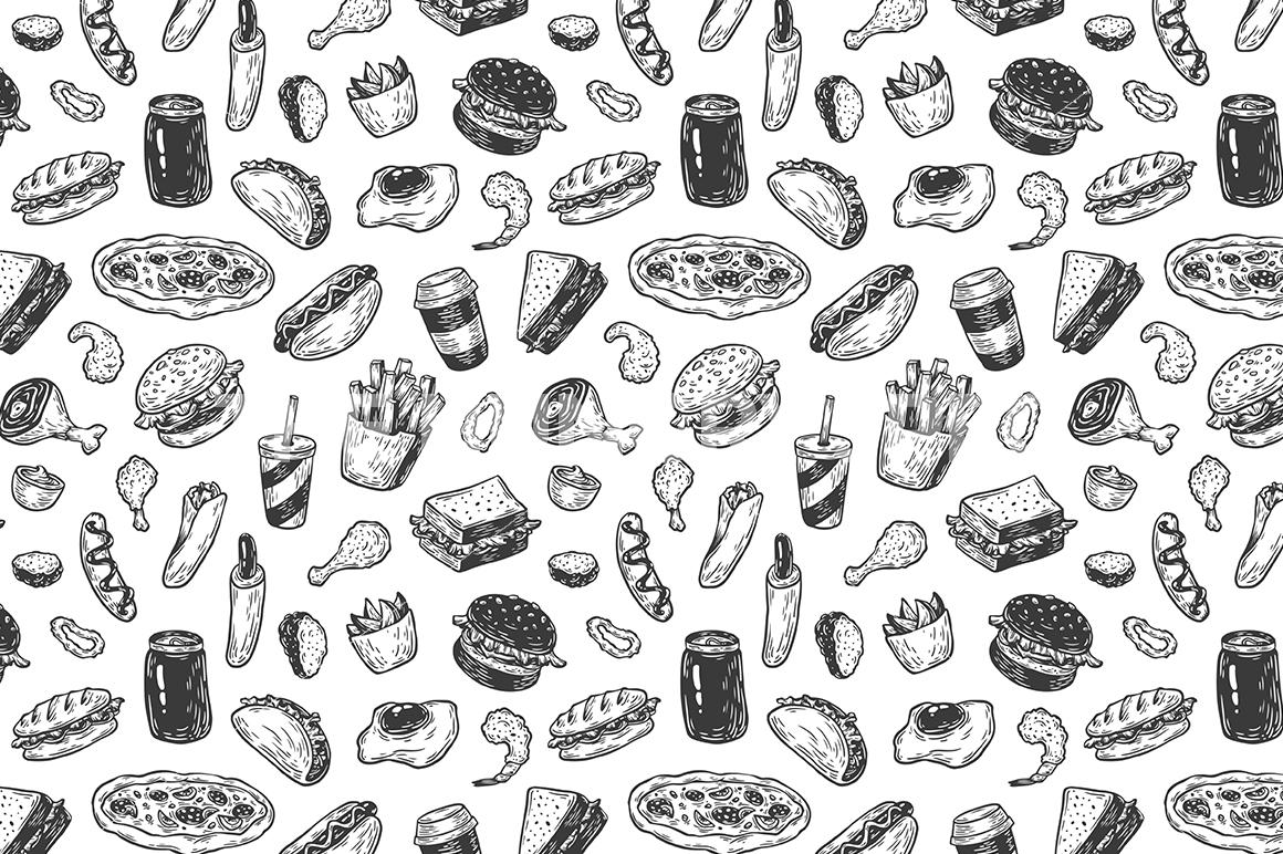1160x772 Fast Food. Vector Illustrations By Olga Olmix
