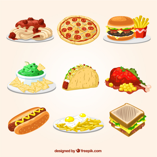 626x626 Fast Food Illustrations Vector Free Download