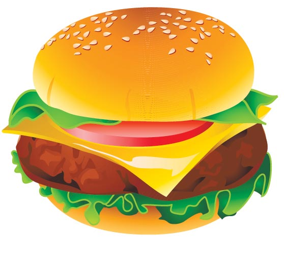 560x512 Fast Food Vector Icons