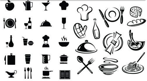 504x280 Food Black Icons Vector Ai Format Free Vector Download