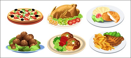 425x188 Free Download Of Western Style Food Vector Material Vector Graphic