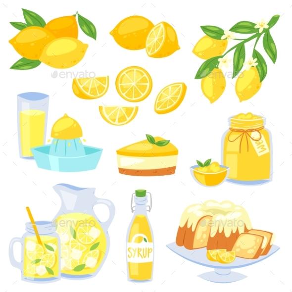 590x590 Lemon Food Vector By Pantimetrok Graphicriver