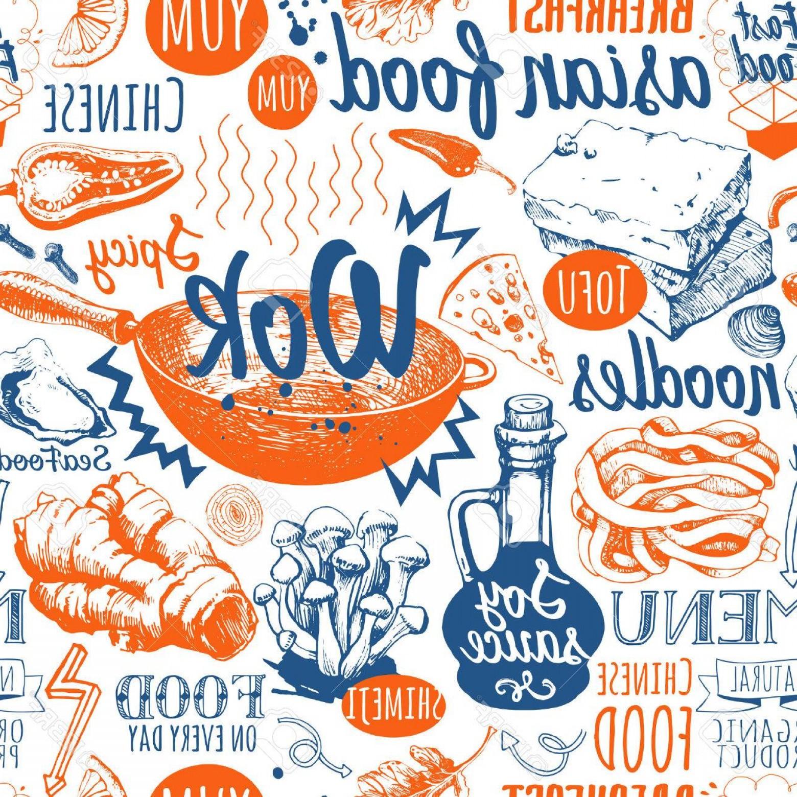 1560x1560 Photostock Vector Asian Street Food Vector Illustration With Funny