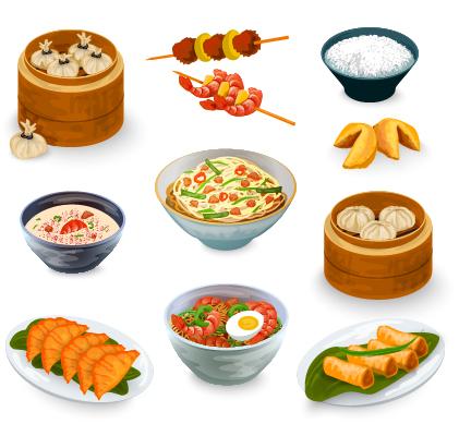421x389 Chinese Food Vector Material Set 01 Free Vectors Ui Download