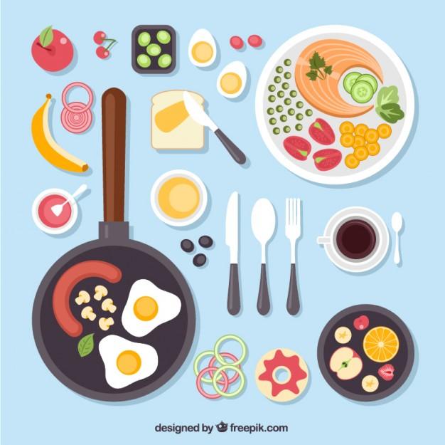 626x625 Delicious Food Vector Free Download
