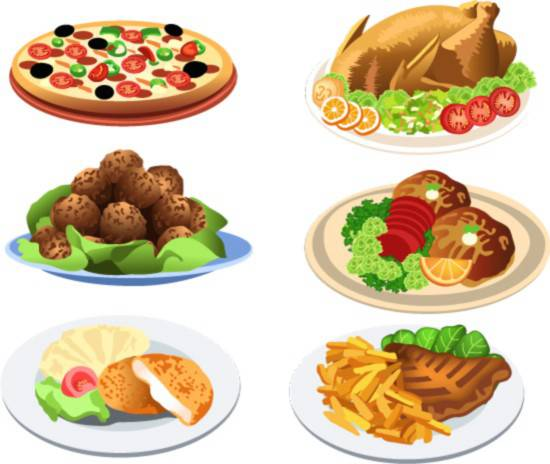 550x464 Western Style Food Vector Vector Biology Free Vector Download