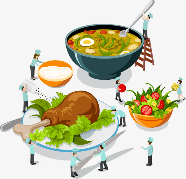 650x627 Chef And Food Vector, Chef Vector, Food Vector, Food Clipart Png