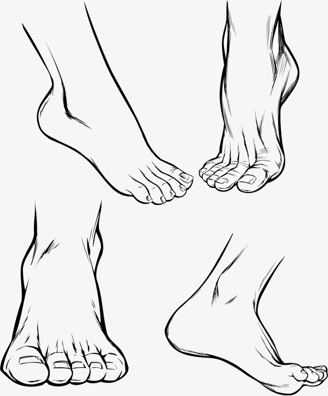 650x784 Vector Painted Feet, Vector, Hand Painted, Foot Png And Vector For