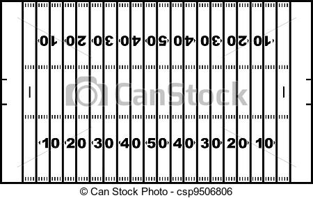 Football Field Lines Vector