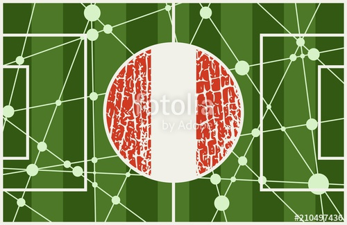 500x325 Molecule And Communication Background With National Flag Of Peru