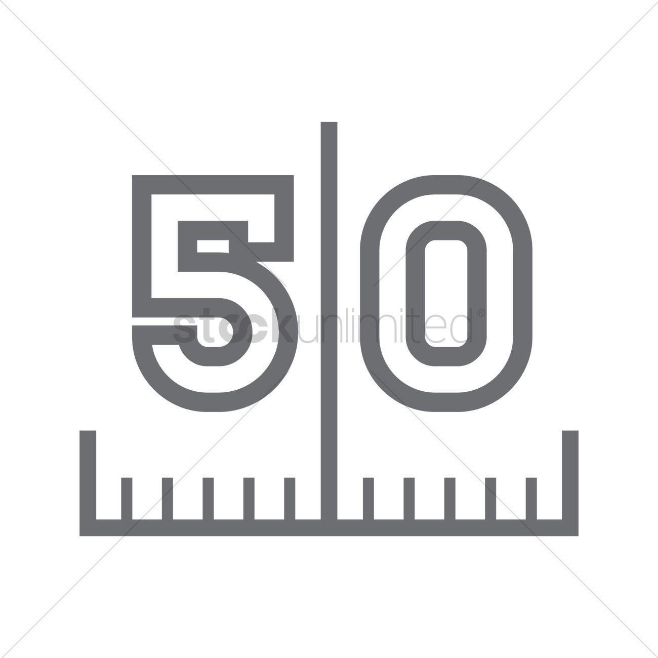 1300x1300 50 Yard Line On American Football Field Vector Image