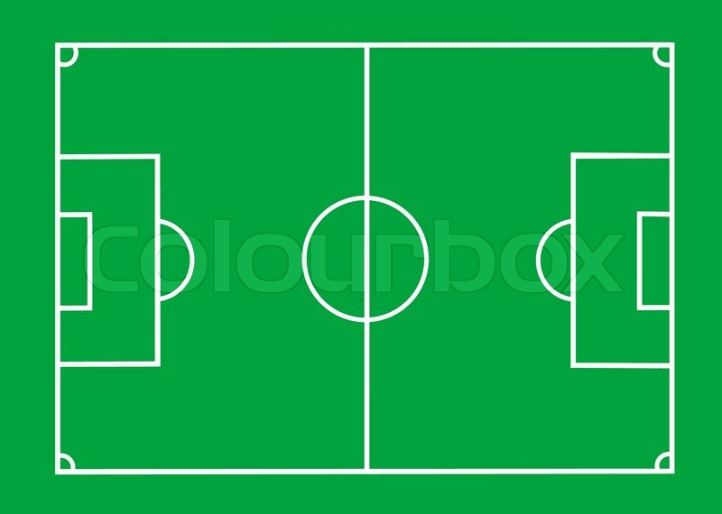 800x570 Vector Soccer Field With Lines On Green Stock Vector Colourbox