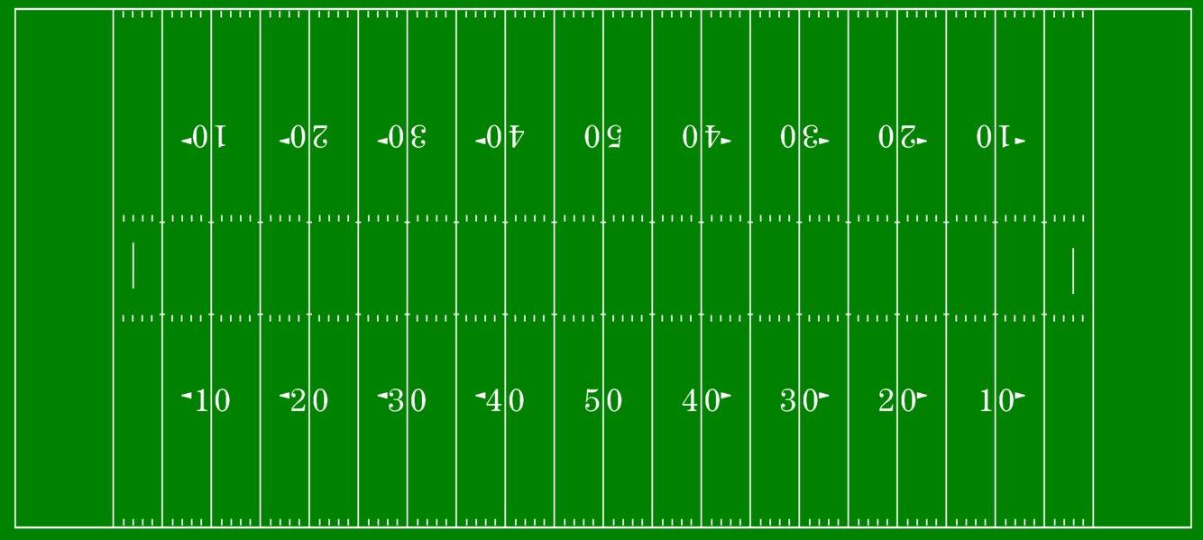 1334x599 Clipart Football Field