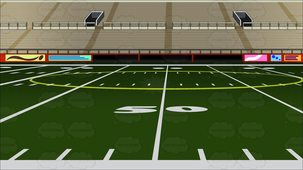 1024x576 Empty Football Stadium Background Clipart By Vector Toons