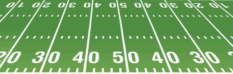 750x240 American Football Field Vector Stock Image And Royalty Free