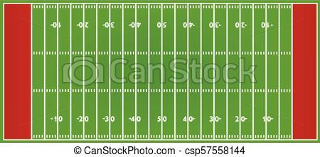 450x222 American Football Field. Vector Illustration.