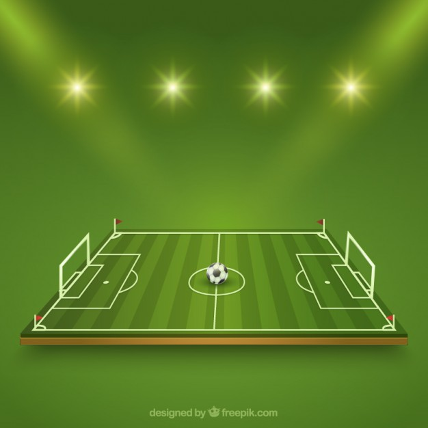 626x626 Football Field Vector Free Download