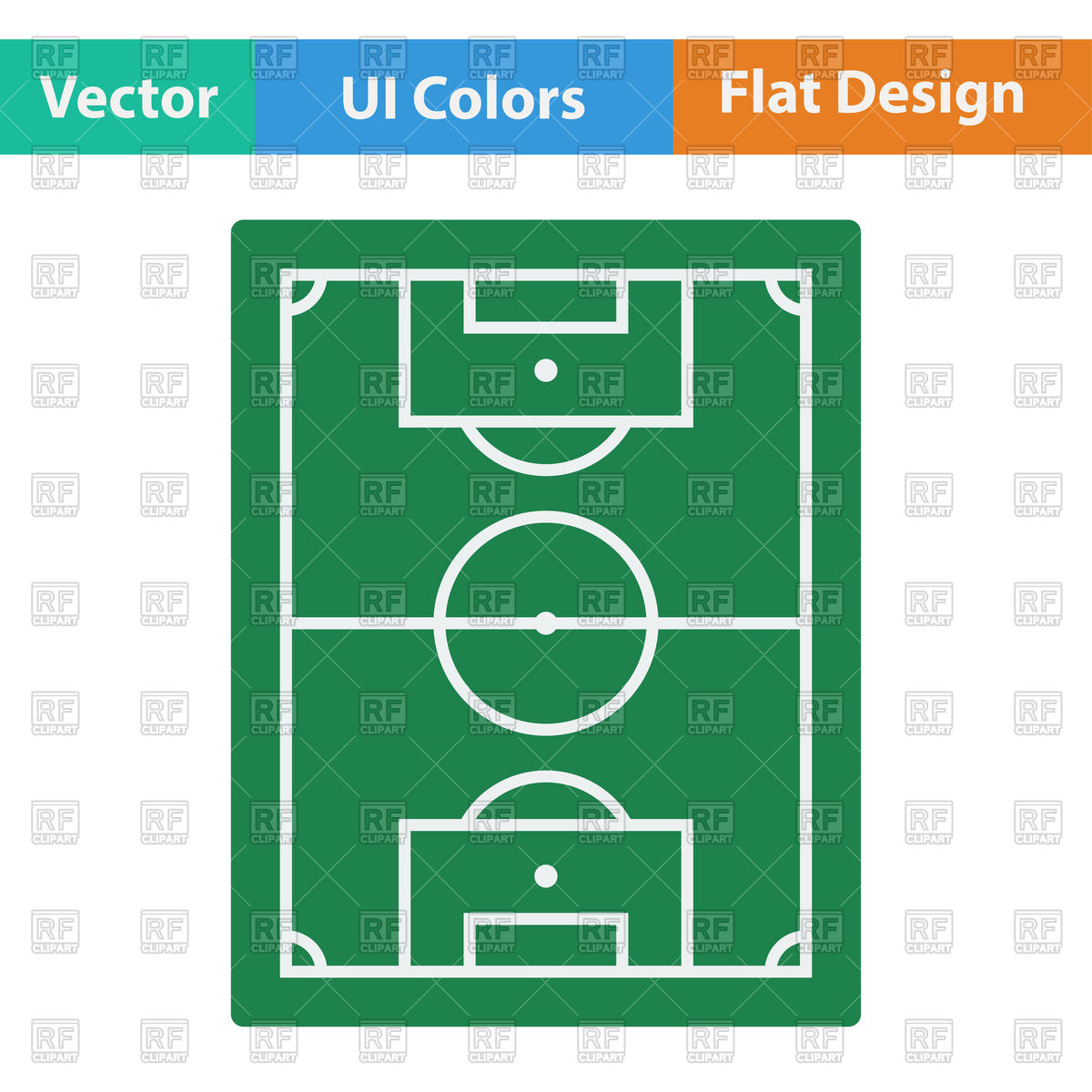 1200x1200 Football Field Vector Image Vector Artwork Of Signs, Symbols