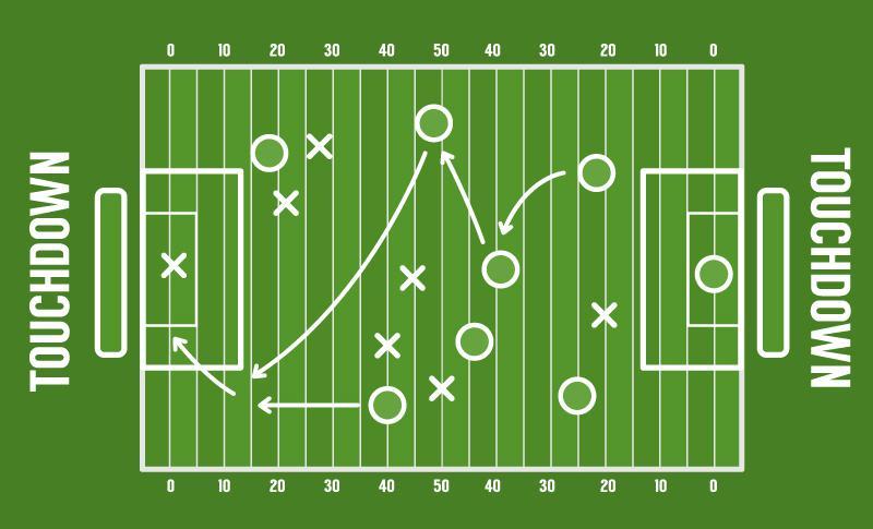 800x485 American Football Field Design Vector [Ai]