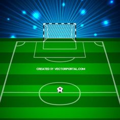 236x236 Football Field Vector Image Sports Free Vectors