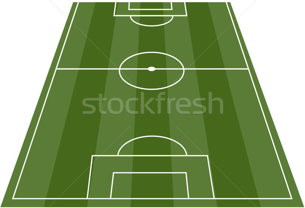 600x409 Football Soccer Field Pitch Vector Vector Illustration