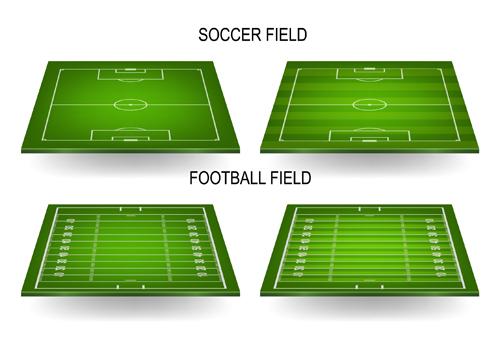 500x350 Green Football Field Vector Design 01 Free Download