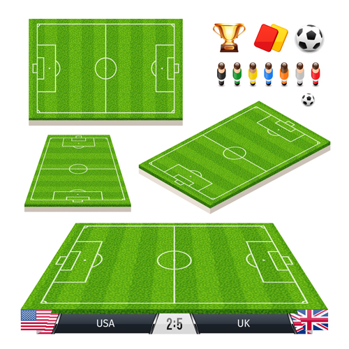 500x500 Green Football Field Vector Design 02 Free Download