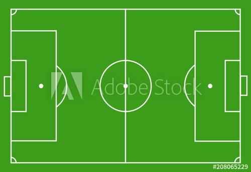 500x343 Scheme Of The Football Field, Soccer Field. Marking Of Football