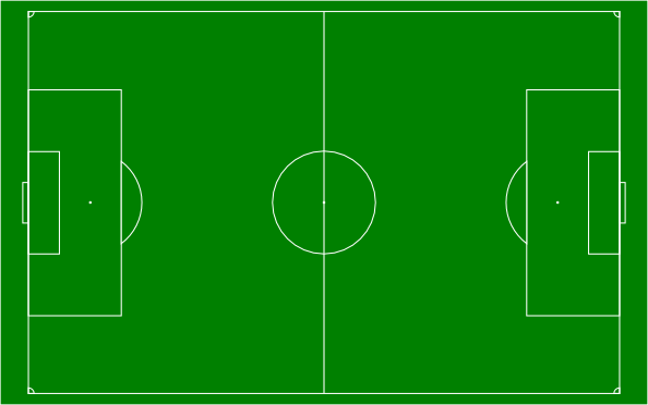 594x372 Soccer Field Football Pitch Clip Art Free Vector 4vector