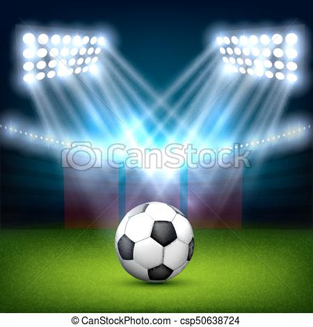 450x470 Soccer Ball On The Football Field.