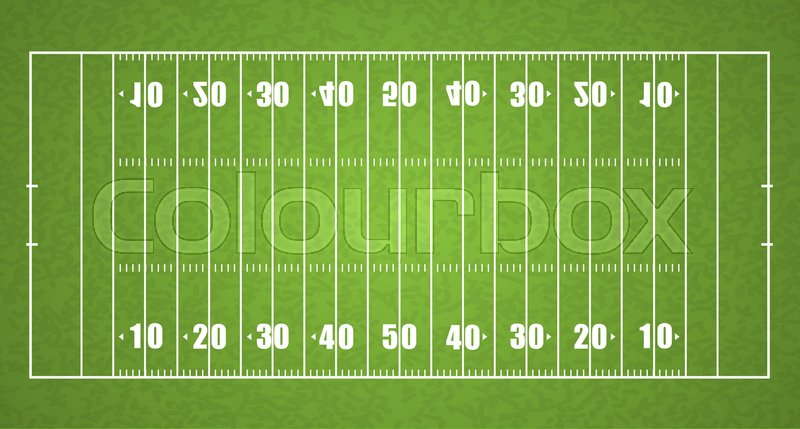 800x429 Top View American Football Field, Vector Illustration Stock